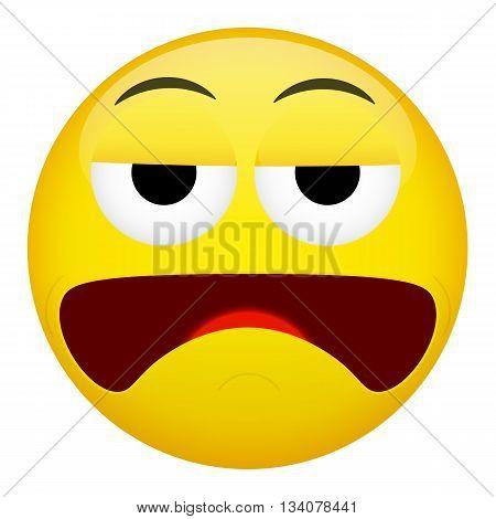 Depression sadness sick drunken emotion. Emoji illustration.