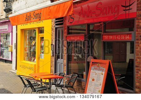 Valence France - april 13 2016 : a vietnamese restaurant