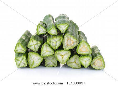 fresh moringa isolated on a white background
