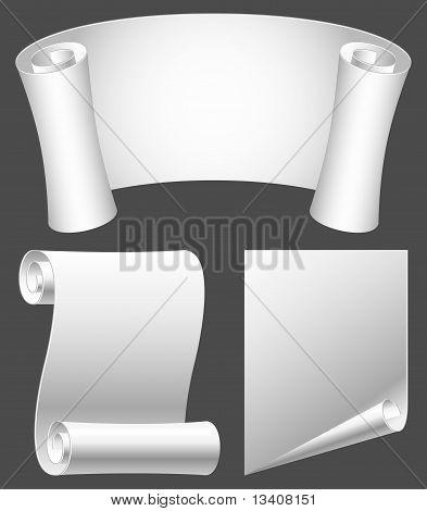 Paper scrolls.