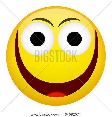 Smile laugh frown emotion. Emoji emoticon illustration.