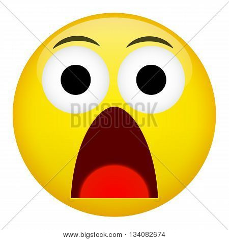 Fear and surprise emotion. Emoji emoticon illustration.