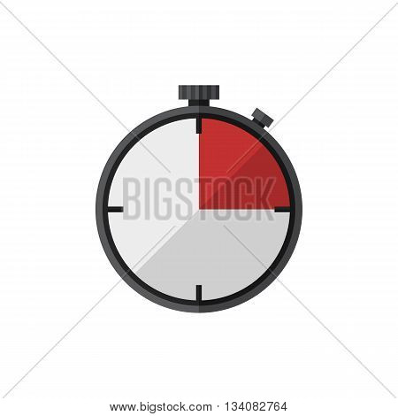 Timer icon.Vector timer icon in flat style isolated on a white background