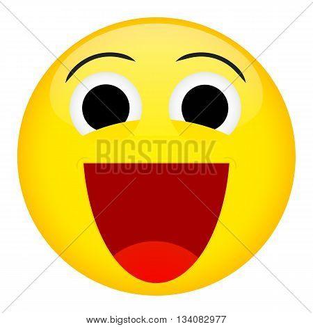 Broad smile laugh emotion. Emoji emoticon illustration.