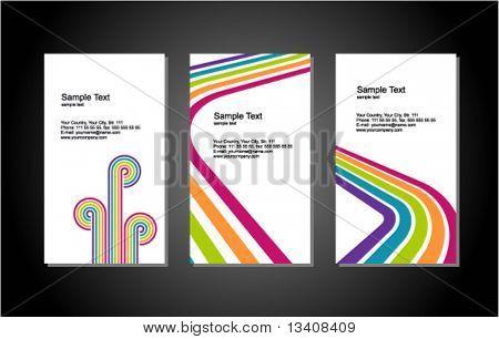 Conjunto de tarjeta vertical