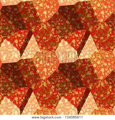 Abstract seamless marbled texture of red, pink, brown and white mottled pattern