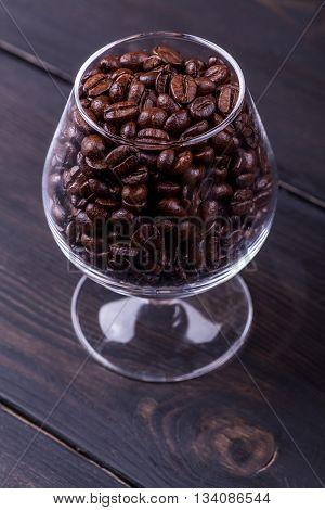 Coffee On Dark Wood