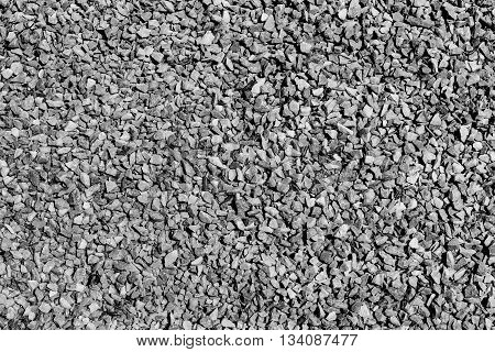 Grey gravel road for background or texture