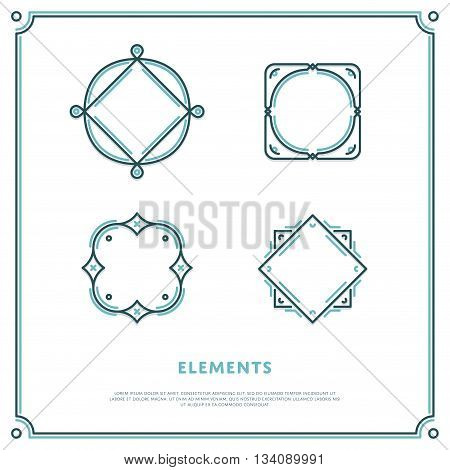 Design Elements. Vector Logo Border Illustration. Tempalte for sign