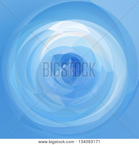 abstract modern swirl background - light sky blue colored