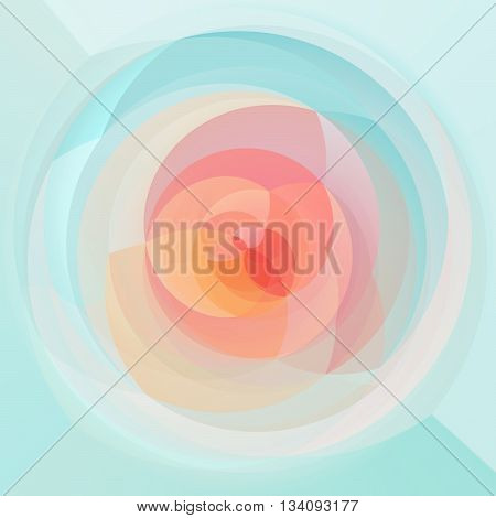 abstract modern swirl background - light pastel colored - pink and blue colors