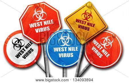 West nile virus concept background, 3D rendering, rough street s