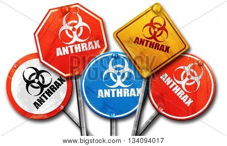Anthrax virus concept background, 3D rendering, rough street sig