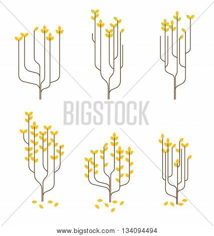 stylish set illustrated tree for your best design wall interior glass