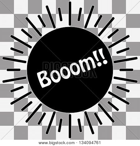 Black Boom Icon vector on transparent background