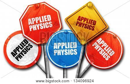 applied physics, 3D rendering, rough street sign collection