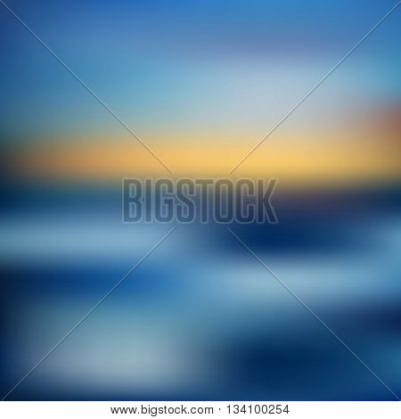 Magic blue blur abstract background vector illustration. Abstract background. Nature summer background. Abstract summer background. Abstract colorful blurred vector backgrounds.