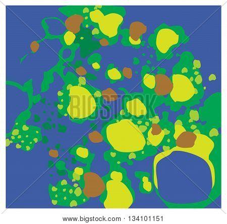 Vector molecules of the virus. green molecules.