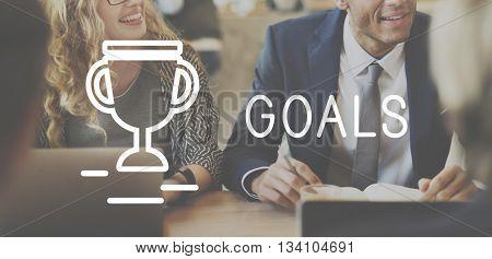 Goals Target Success Strategy Achievement Concept
