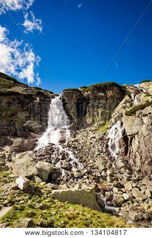 Slovakian Tatry Skok Waterfall Landscape