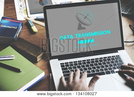 Boardcast Data Transmission GPS Navigation Concept