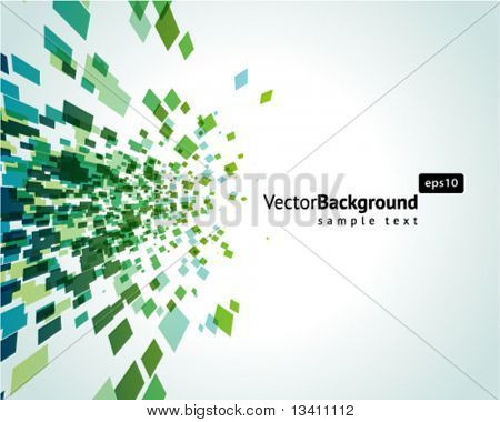 Abstract explore square mosaic vector background