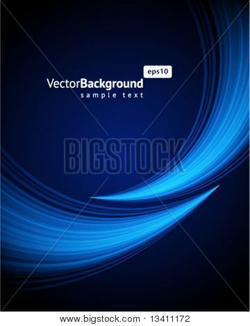 Blue light wave vector background