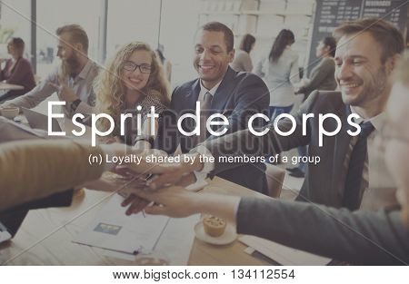 Esprit De Corps Group Loyalty People Graphic Concept