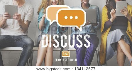 Discuss Argument Debate Talking Negotation Discussion Concept