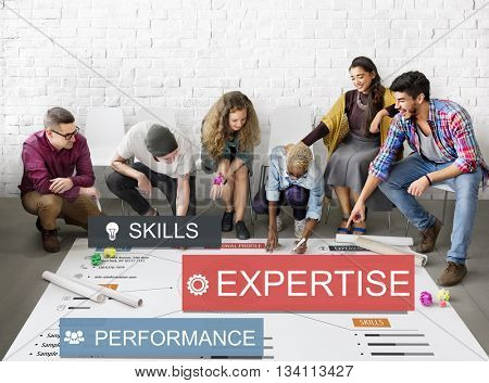 Expertise Skills Performance Business Abilities Concept