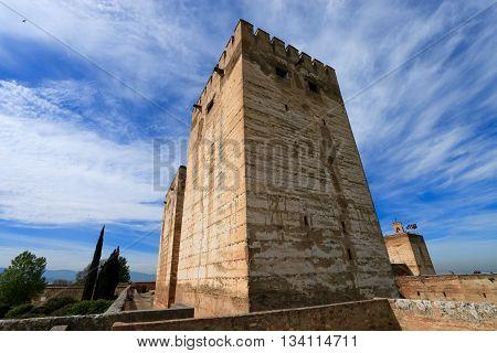 tower of  Alcazaba, ALHAMBRA, GRENADA , SPAIN