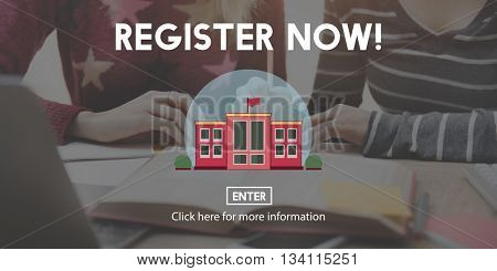Register Now Education Degree Study Concept