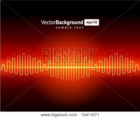 Abstract waveform vector background