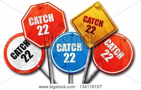 catch, 3D rendering, rough street sign collection