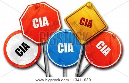 cia, 3D rendering, rough street sign collection