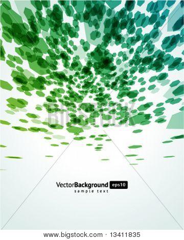 abstrakt fliegen Sechskant-Formen-Vektor-Hintergrund