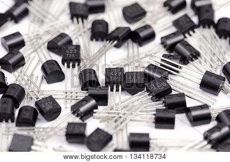 Transistors Batch On White