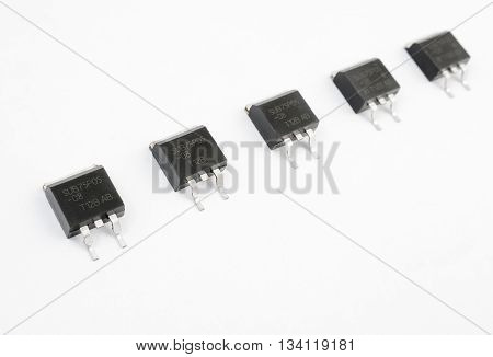 Transistors Stripe Isolated