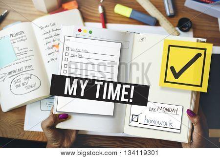 To Do List Organize Checklist Word Concept