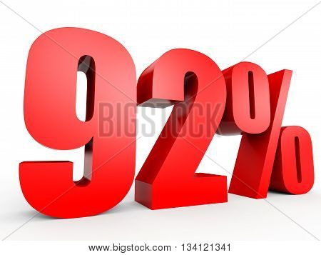 Discount 92 Percent Off. 3D Illustration.