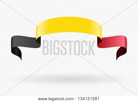 Belgian flag wavy abstract background. Vector illustration.