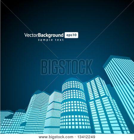 Perspektive Stadt Vektor Hintergrund