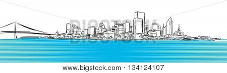 San Francisco Finance District Sketch