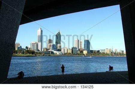 poster of Perth City Through Narrows