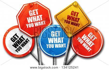 get what you want, 3D rendering, rough street sign collection