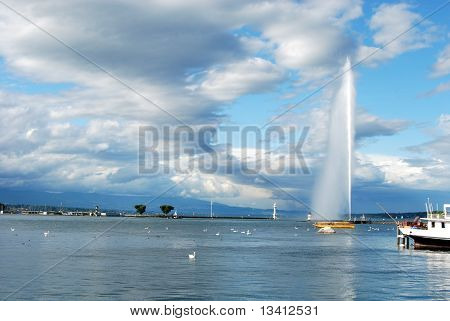 Geneva and Jet d'Eau
