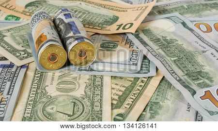 Cartridges are in US dollars banknotes 100