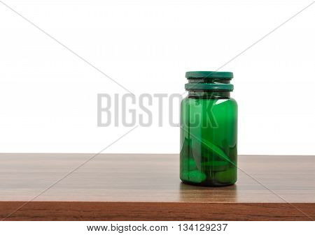 Medicine plastic bottle isolated on a white background Clipping path