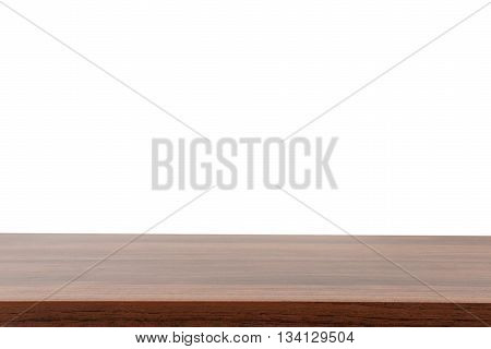 Wood table texture top on isolated on white background, Clipping path