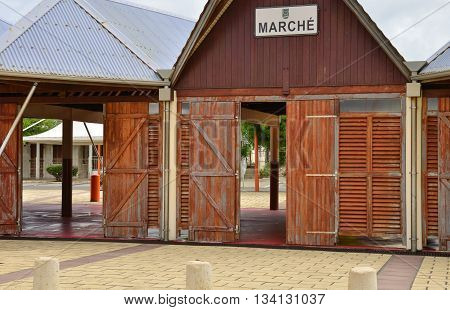 Le Vauclin; Martinique France - august 25 2015 : the covered market